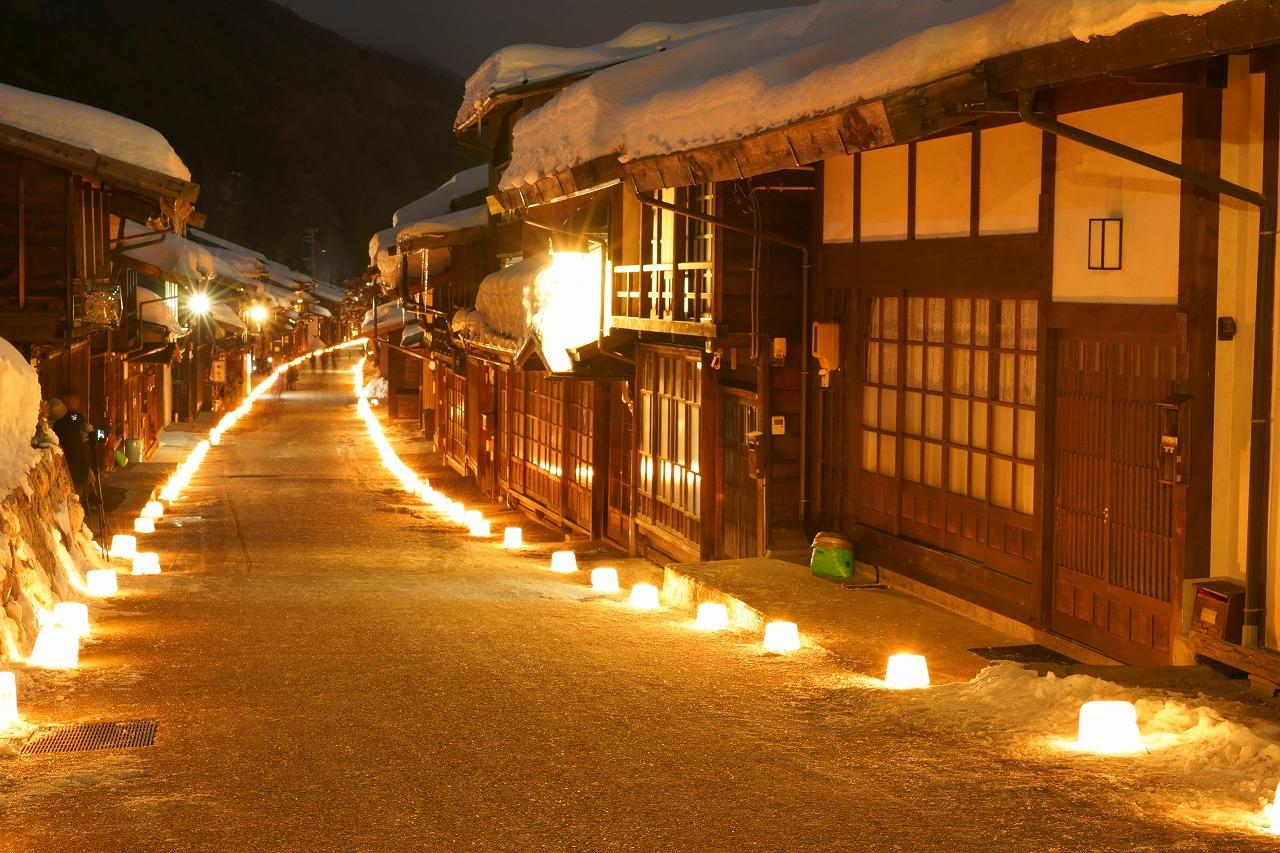 奈良井宿 氷塔祭り2